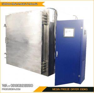 Beli Mesin Freeze Dryer Murah kapasitas 200kg perhari
