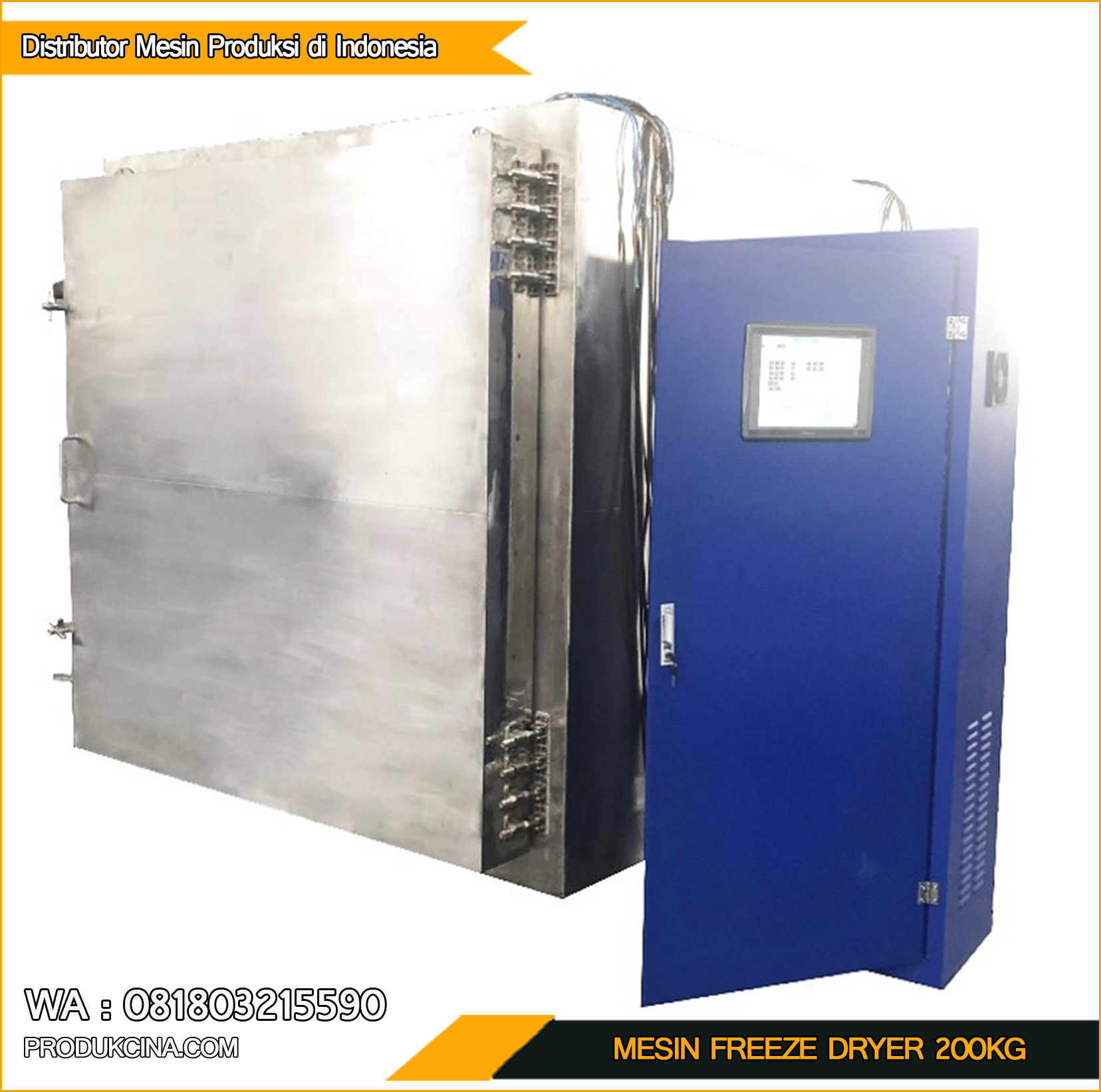 Beli Mesin Freeze Dryer Murah kapasitas 200kg perhari