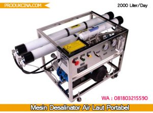 Beli mesin desalinasi untuk air laut 2000 liter dalam 24 jam