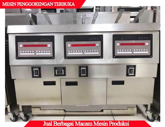 Detail mesin penggorengan terbuka
