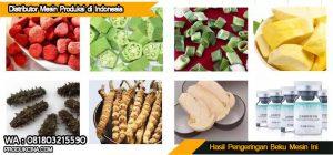 Hasil beberapa jenis makanan yang dibekukan