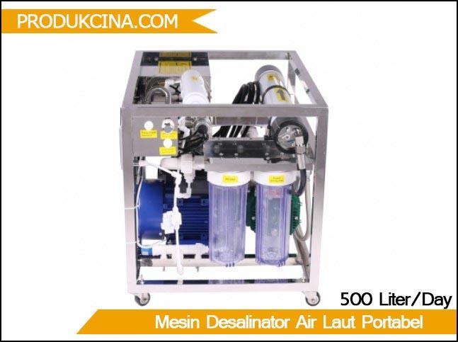 Jual mesin desalinasi air laut portable 500 liter perhari murah