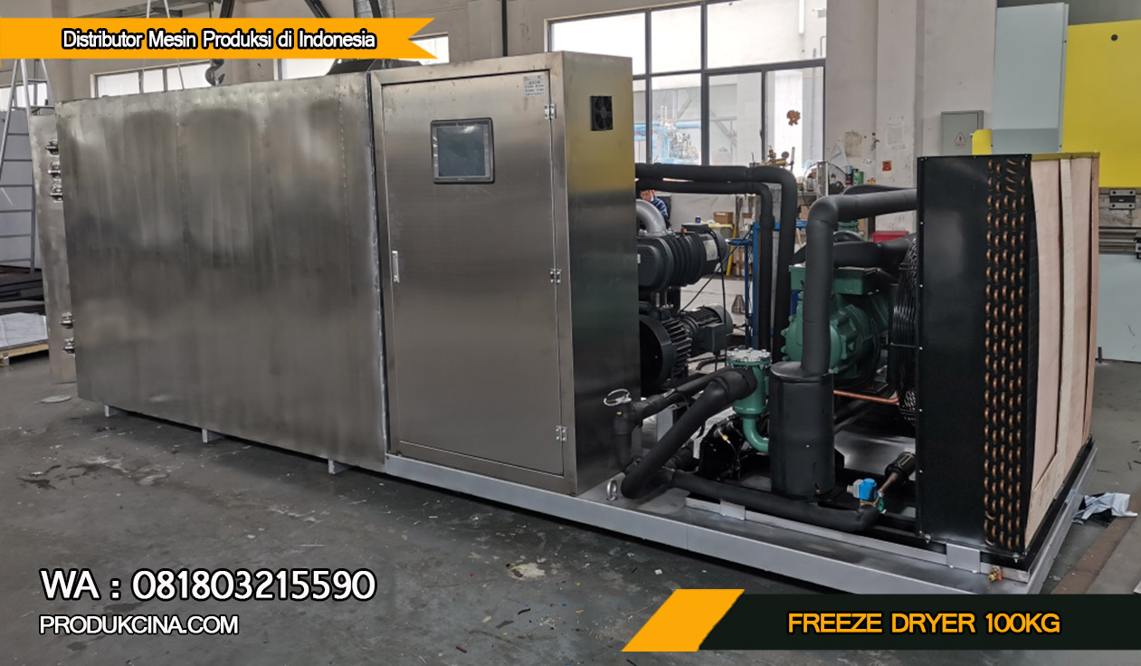 Mesin Pengeringan Beku Freeze Dryer 100Kg Murah