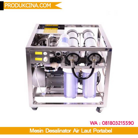 Mesin desalinator portabel untuk air laut