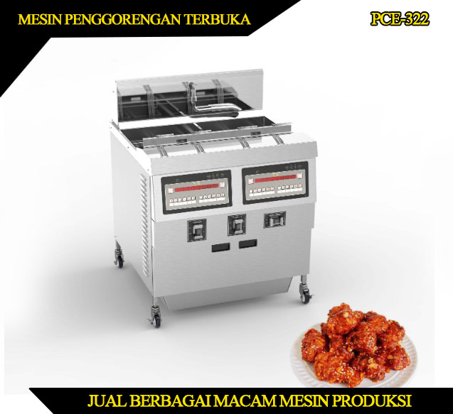 Mesin penggorengan terbuka murah 2 tangki 25 liter