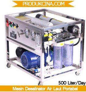 Tampilan Mesin portabel disalinator air laut