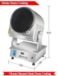 Ukuran mesin drum cooking berkualitas