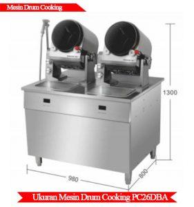 Ukuran mesin drum cooking murah