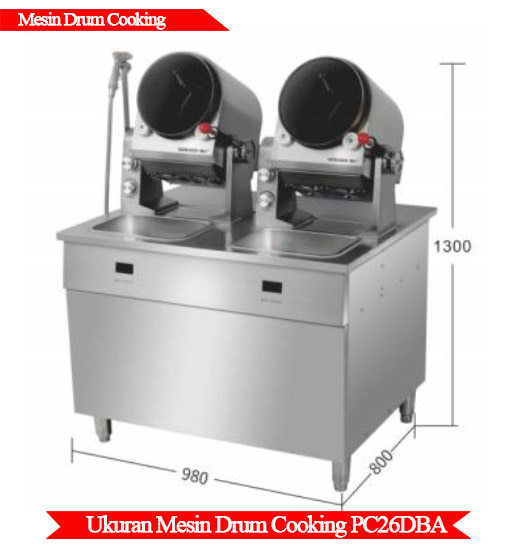 Ukuran mesin drum cooking murah