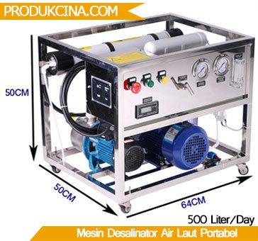 Ukuran mesin portabek desalinator