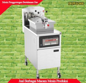 Detail tampilan mesin preassure deep fryer