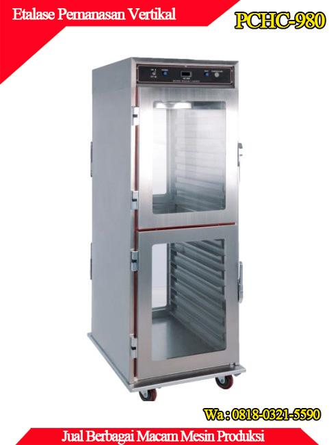 Jual mesin etalase pemanas vertikal murah dan berkualitas di jawa timur