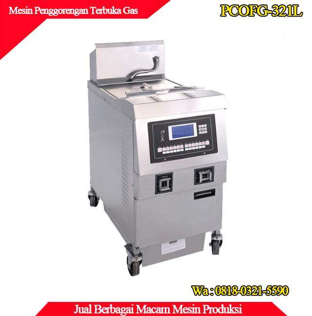 Mesin penggorengan terbuka dengan pemanas gas PCOFG-321L