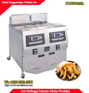 Mesin penggorengan terbuka dengan pemanas gas murah