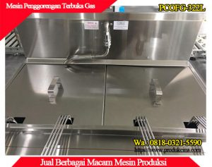 Mesin penggorengan terbuka dengan tutup