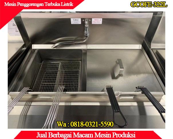 Tampilan dalam mesin penggorengan terbuka
