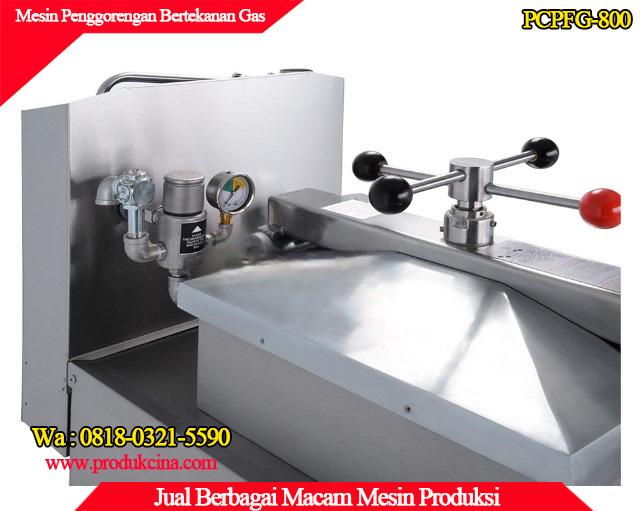Tampilan mesin dari atas mesin penggorengan tanpa minyak