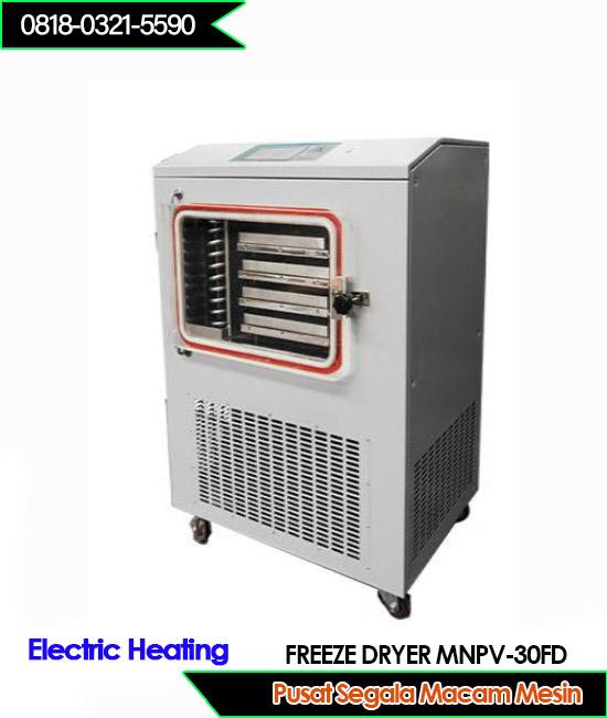 Mesin Freeze dryer area pengeringan 0,4 m2 dengan pemanas listrik